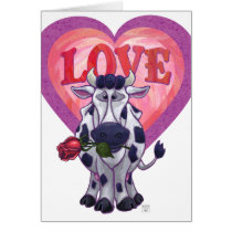 Cow Valentine's Day Card