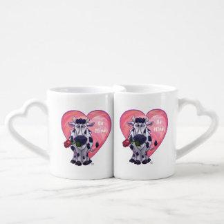 Cow Valentine's Day Couples Coffee Mug