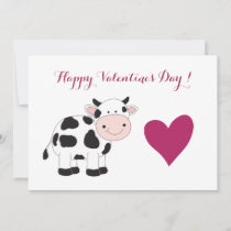 Cow Valentine's Day Greeting Card