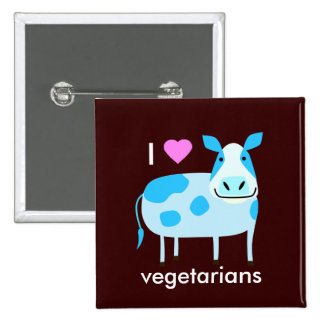 Cow Vegetarian Button