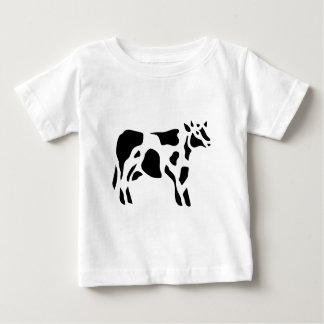 Cow Vintage Wood Engraving Baby T-Shirt