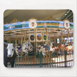 Cow Visits the Carousel Mouse Pads