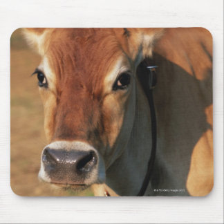 Cow Wearing a Cowbell Mouse Pad