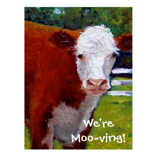 COW: WE'RE MOVING CARD