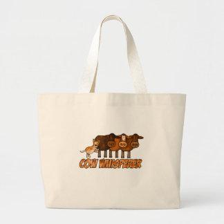 cow whisperer jumbo tote bag