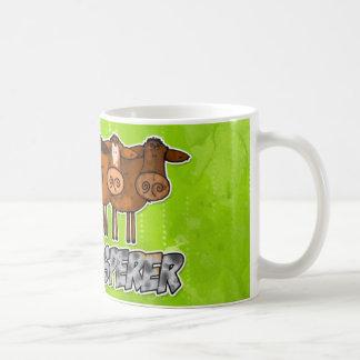 cow whisperer classic white coffee mug