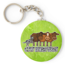 cow whisperer keychain