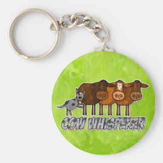 cow whisperer keychain