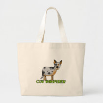 cow whisperer large tote bag