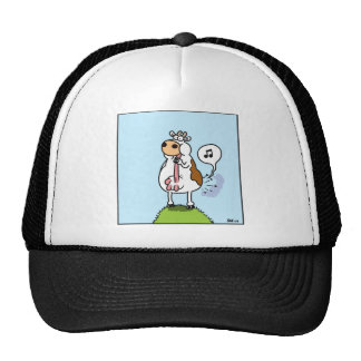 Cow whistling with udder trucker hat