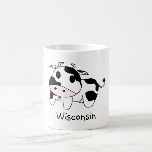 cow, Wisconsin Classic White Coffee Mug