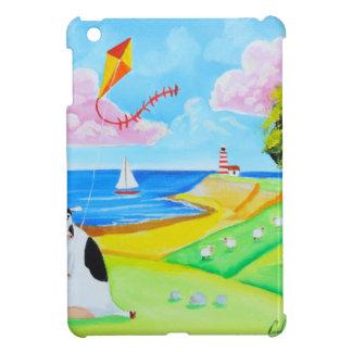 Cow with a kite folk art painting iPad mini case