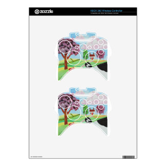 cow with a pig folk art painting xbox 360 controller skins