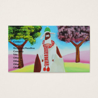 Cow with a scarf Gordon Bruce art Business Card