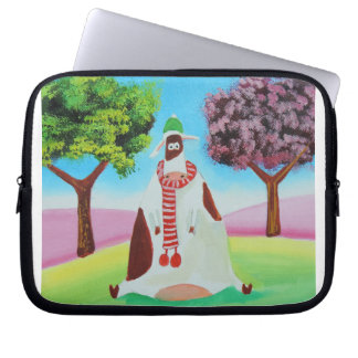 Cow with a scarf Gordon Bruce art Laptop Sleeve