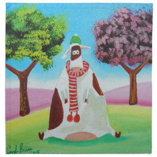 Cow with a scarf Gordon Bruce art Napkin