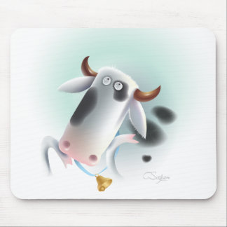 cow with bell mouse pad