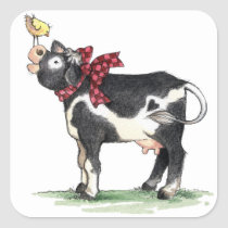Cow with Bow - Stickers