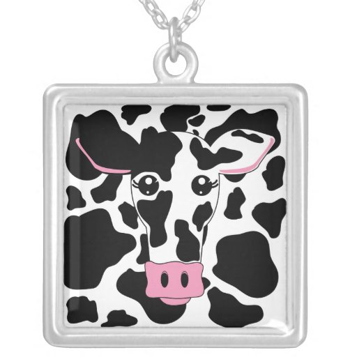 Cow with Cow Print Custom Necklace