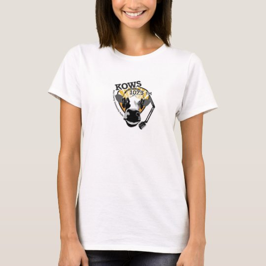 Cow with microphone woman's t-shirt