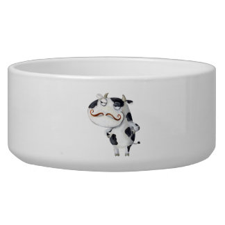Cow with Mustaches Bowl