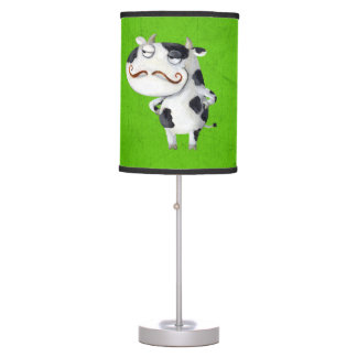 Cow with Mustaches Desk Lamp