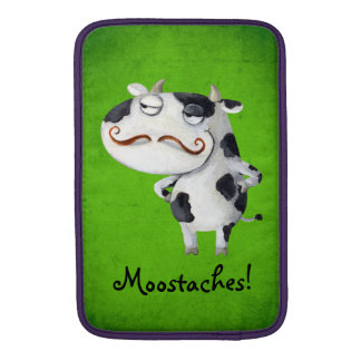Cow with Mustaches MacBook Air Sleeves