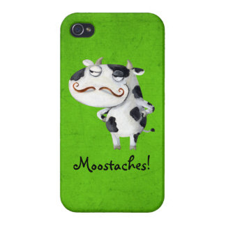 Cow with Mustaches iPhone 4 Cover