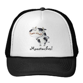 Cow with Mustaches Trucker Hat