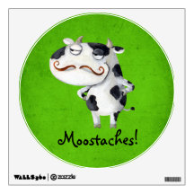 Cow with Mustaches Wall Skins