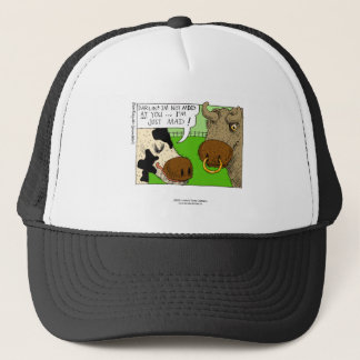 Cow With PMS?  Hilarious Framed Print Trucker Hat