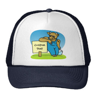 Cow with sign mesh hats