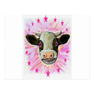 Cow with Stars in her Eyes Postcard