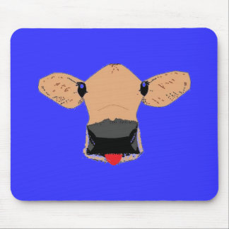 cow with tongue out mouse pad