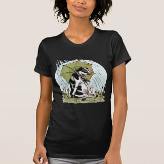 Cow with Umbrella by Mudge Studios Shirt