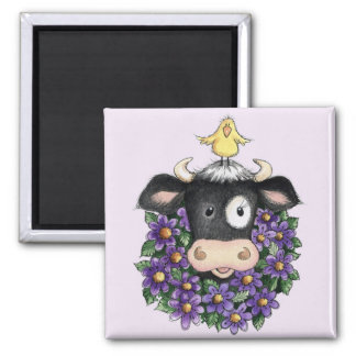 Cow with Wreath - Magnet