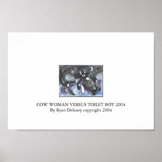 Cow Woman versus Toilet Boy Poster