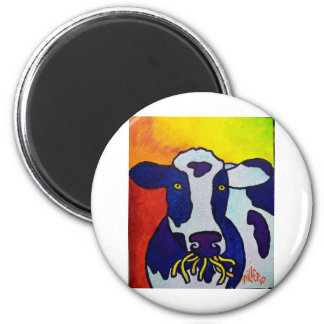 Cow Wow piliero 2 Inch Round Magnet