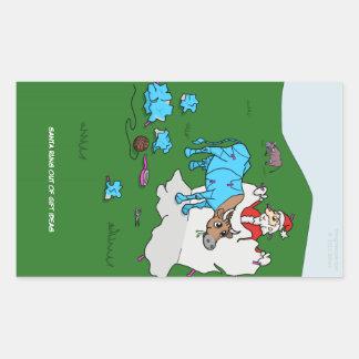 Cow Wrap Rectangular Sticker