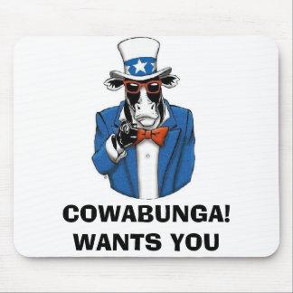 COWABUNGA™ [FUNCOW™] MOUSE PAD