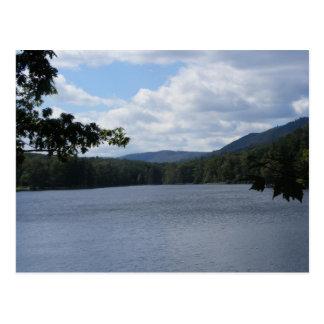 cowans gap state park pennsylvania lake trees postcard