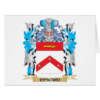 Coward Coat of Arms - Family Crest Large Greeting Card