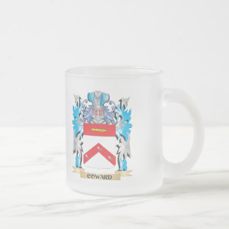 Coward Coat of Arms - Family Crest 10 Oz Frosted Glass Coffee Mug