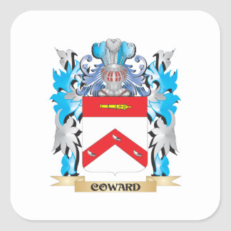 Coward Coat of Arms - Family Crest Square Sticker