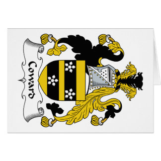 Coward Family Crest Greeting Card