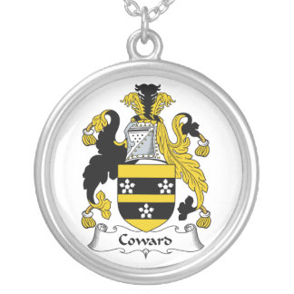 Coward Family Crest Round Pendant Necklace