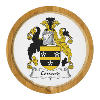 Coward Family Crest Round Cheeseboard