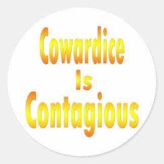 Cowardice Is Contagious Classic Round Sticker