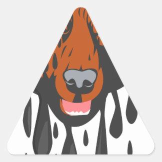 Cowardly Bear Triangle Sticker