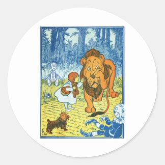 Cowardly Lion Classic Round Sticker